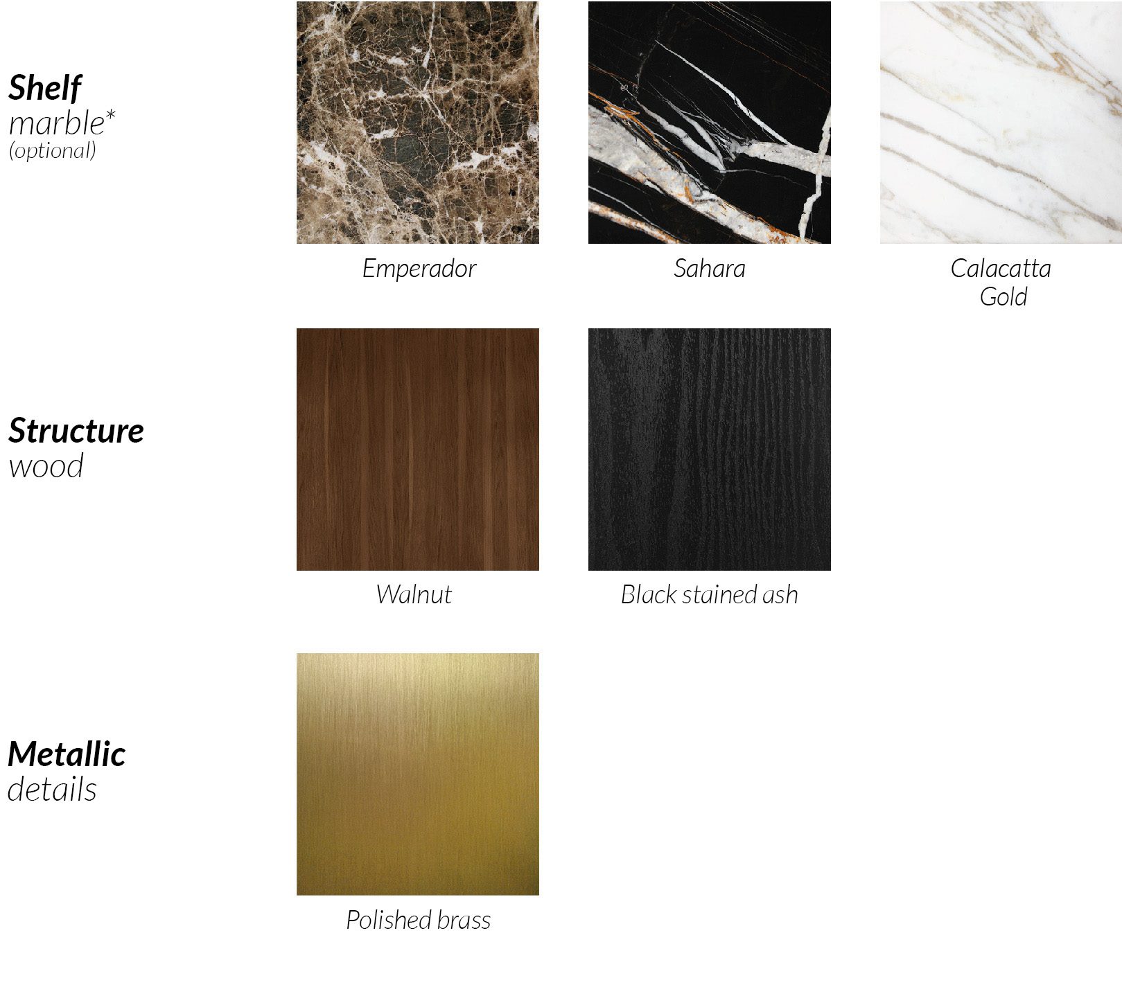 VANITY TABLE - Materials - Nomon Home